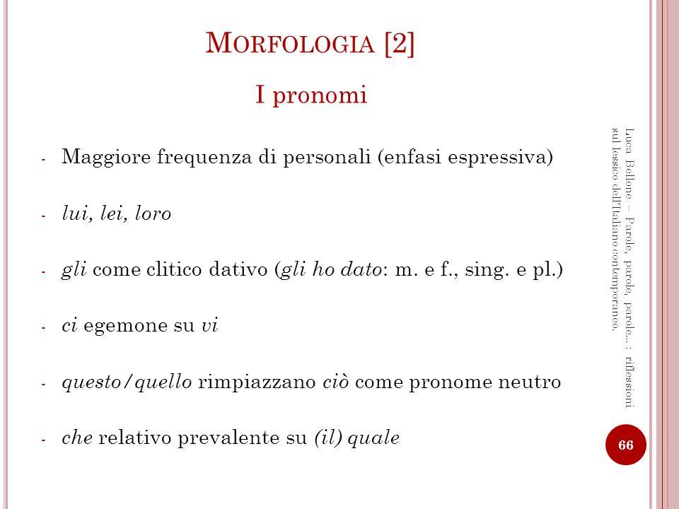 Morfologia [2] I pronomi